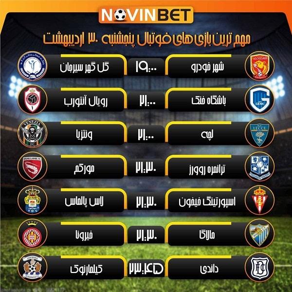 پیش بینی فوتبال لیگ های خارجی